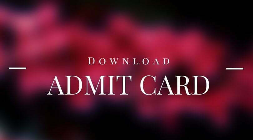 Assam HS TET Admit Card 2021 | Higher Secondary TET Call Letter
